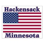 Hackensack US Flag Small Poster