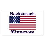 Hackensack US Flag Sticker (Rectangle 10 pk)