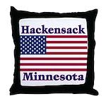 Hackensack US Flag Throw Pillow