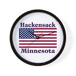 Hackensack US Flag Wall Clock