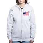 Hackensack US Flag Women's Zip Hoodie