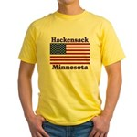 Hackensack US Flag Yellow T-Shirt