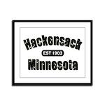 Hackensack Established 1903 Framed Panel Print