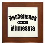 Hackensack Established 1903 Framed Tile
