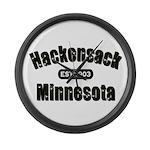Hackensack Established 1903 Large Wall Clock