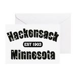 Hackensack Established 1903 Greeting Cards (Pk of