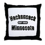 Hackensack Established 1903 Throw Pillow