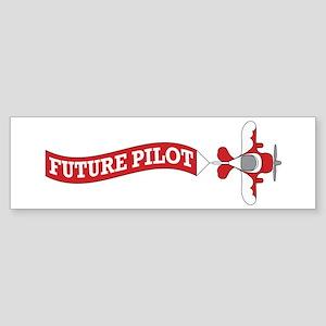 Aviation Future Pilot Sticker (Bumper)