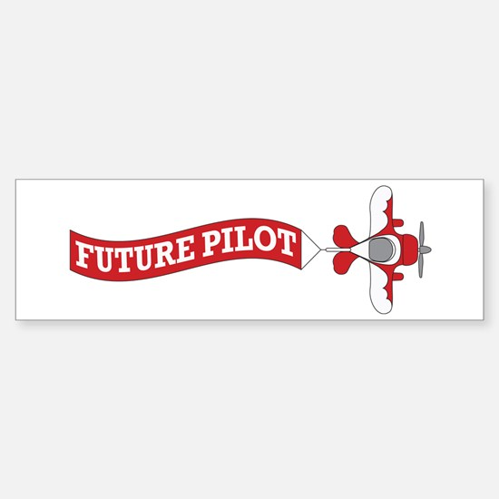 Aviation Future Pilot Sticker (Bumper)