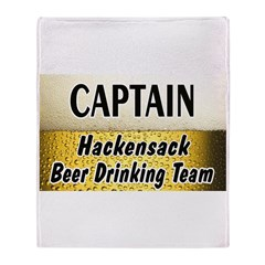 Hackensack Beer Drinking Team Throw Blanket
