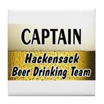 Hackensack Beer Drinking Team Tile Coaster