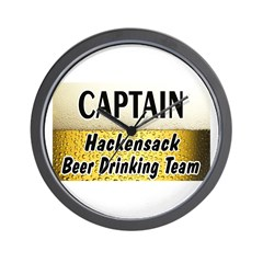 Hackensack Beer Drinking Team Wall Clock
