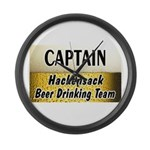 Hackensack Beer Drinking Team Large Wall Clock