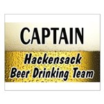 Hackensack Beer Drinking Team Small Poster