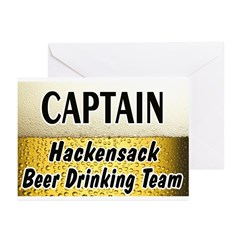 Hackensack Beer Drinking Team Greeting Cards (Pk o