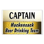 Hackensack Beer Drinking Team Sticker (Rectangle 1