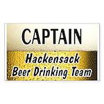 Hackensack Beer Drinking Team Sticker (Rectangle 5