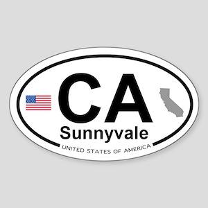 Sunnyvale Sticker (Oval)
