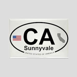 Sunnyvale Rectangle Magnet