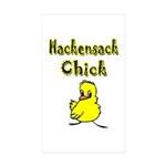Hackensack Chick Sticker (Rectangle 10 pk)