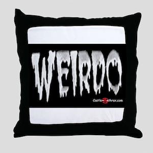 Weirdo in the Dark  Throw Pillow