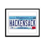 Hackensack License Plate Framed Panel Print