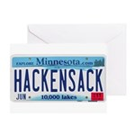 Hackensack License Plate Greeting Card