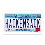 Hackensack License Plate Mini Poster Print