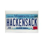 Hackensack License Plate Rectangle Magnet