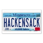 Hackensack License Plate Sticker (Rectangle 50 pk)
