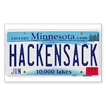 Hackensack License Plate Sticker (Rectangle)