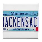 Hackensack License Plate Tile Coaster