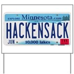 Hackensack License Plate Yard Sign