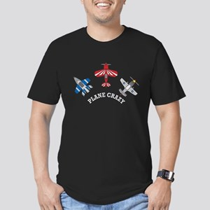 Aviation Plane Crazy Men's Fitted T-Shirt (dark)
