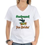Hackensack Loon Shop Women's V-Neck T-Shirt