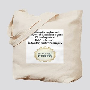 Jane Austen MP 2010 Limerick Tote Bag