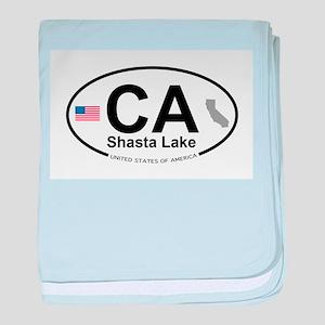 Shasta Lake baby blanket