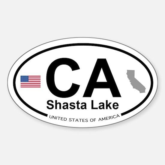 Shasta Lake Sticker (Oval)