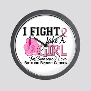 Licensed Fight Like a Girl 15.6 Wall Clock