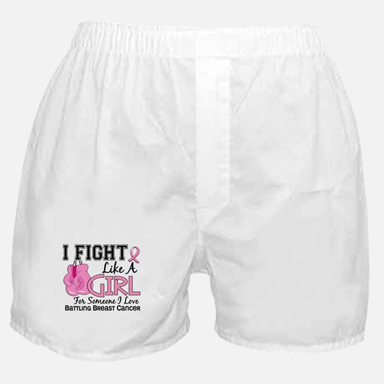 Licensed Fight Like a Girl 15.6 Boxer Shorts