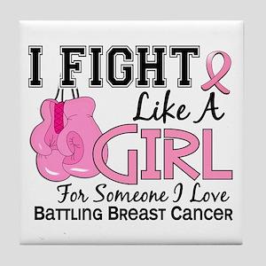 Licensed Fight Like a Girl 15.6 Tile Coaster