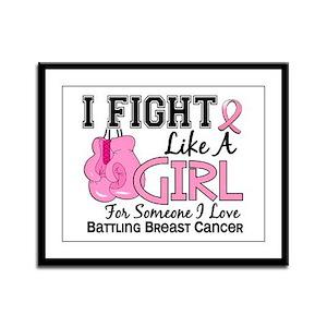 Licensed Fight Like a Girl 15.6 Framed Panel Print