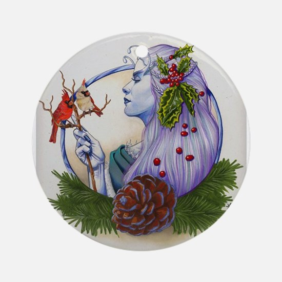 Winter Goddess Ornament (Round)