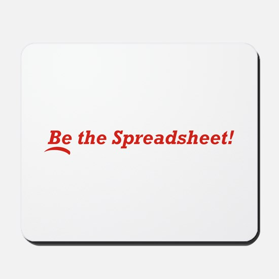 Be the Spreadsheet Mousepad