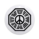 Dharma Peace Faded Ornament (Round)