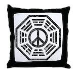 Dharma Peace Faded Throw Pillow