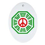 Dharma Peace Faded Ornament (Oval)
