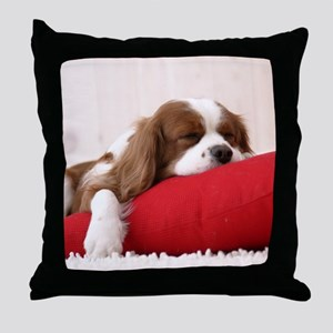 SLEEPING SPANIEL PUPPY Throw Pillow