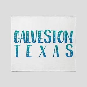 Galveston Texas Throw Blanket