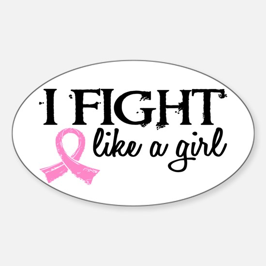 Licensed Fight Like a Girl 18.7 Sticker (Oval)